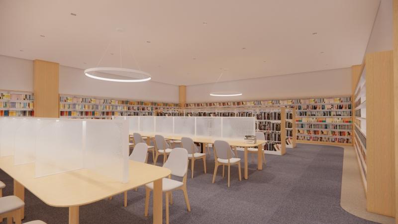 静かな書架スペースのイメージ画像